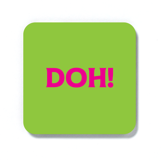 Doh! Coaster | Doh Drinks Mat, Accident Prone, Sympathy Gift, Pop Art, Whoops, Failed Exam Or Driving Test