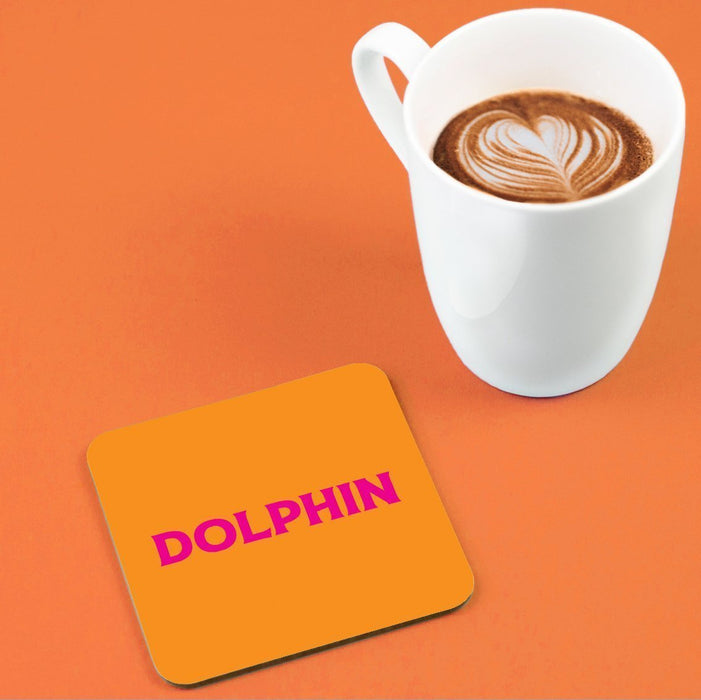 Dolphin Coaster | LGBTQ+ Gifts, LGBT Gifts, Gifts For Gay Men, Drinks Mat, Pop Art