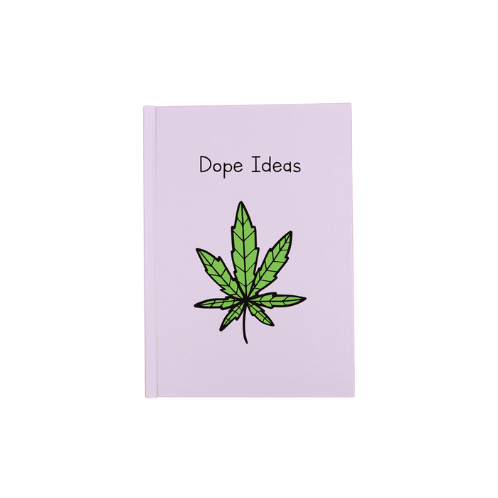 Dope Ideas A5 Journal | Weed Notebook, Diary, Punny Gift For Stoner, Weed Smoker, Cannabis, Marijuana, Ganja, Hash, Pot