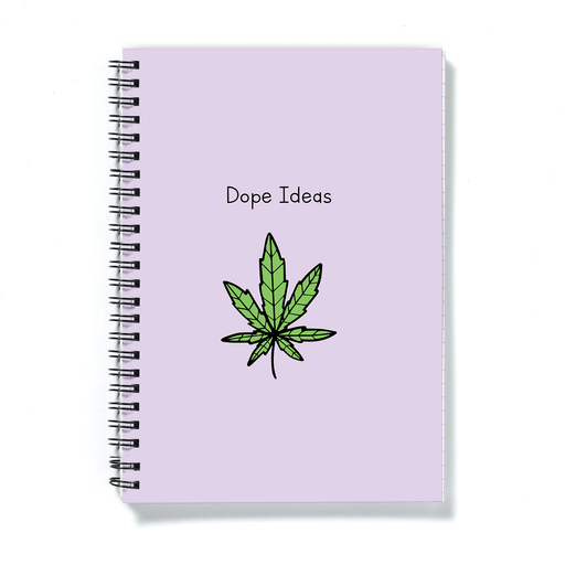 Dope Ideas A5 Notebook | Weed Journal, Diary, Punny Gift For Stoner, Weed Smoker, Cannabis, Marijuana, Ganja, Hash, Pot