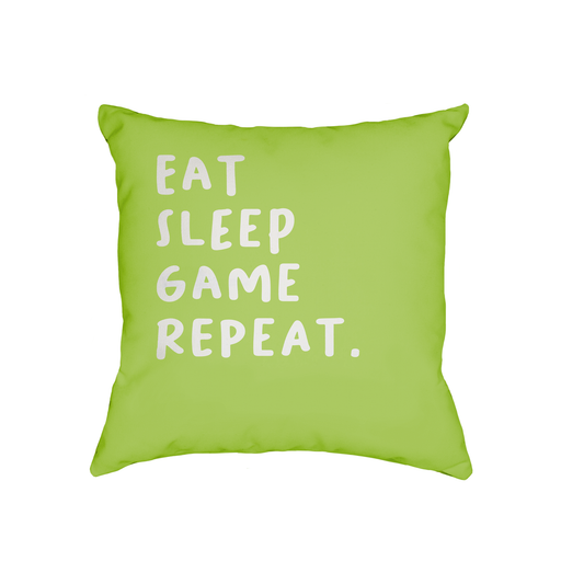 Eat Sleep Game Repeat. Cushion | Funny Gaming Cushion, Birthday Present For Gamer, Gaming Obsessed, Gamers