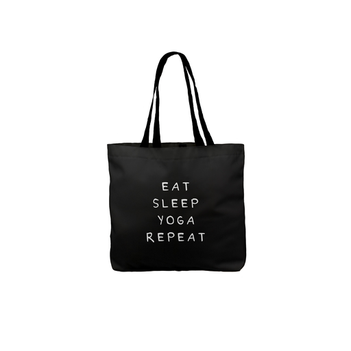 Eat Sleep Yoga Repeat Tote | Canvas Shopping Bag, Yoga Joke Tote Bag, For Yoga, Yogi, Deadpan, Namaste