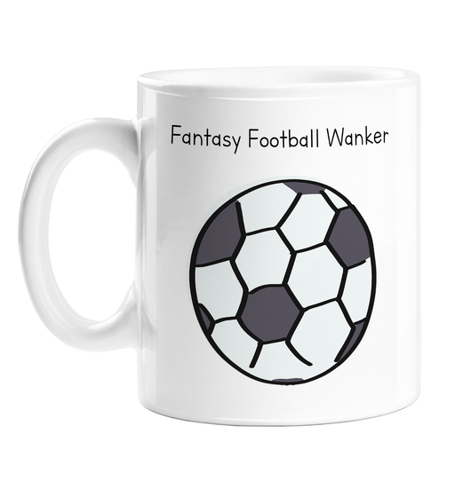 Fantasy Football Wanker Mug | Rude Gift For Fantasy Football Player, Funny Football Mug, FPL, Gaming