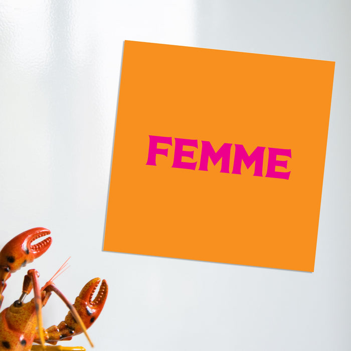 Femme Magnet | LGBTQ+ Gifts, LGBT Gifts, Gifts For Lesbians
