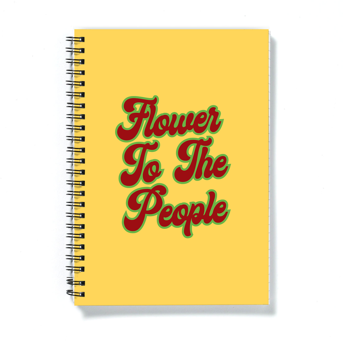 Flower To The People A5 Notebook | Weed Journal, Funny Gift For Weed Smoker, Stoner, Hippie, Power To The People, Cannabis, Marijuana, Hash, Ganja