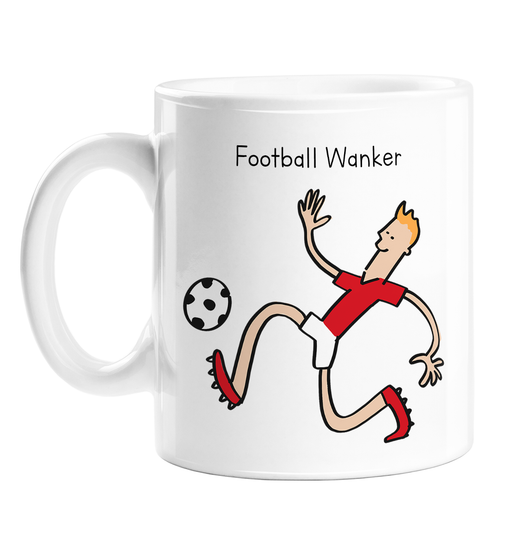 Football Wanker Mug | Rude Gift For Footballer, Football Player, FPL, Fantasy Football, Premier League, FIFA