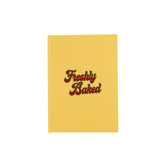 Freshly Baked A5 Journal | Funny Cannabis Recipe Journal, Groovy Seventies Font, Marijuana, Hash, Pot, Bon Appetite, Baking