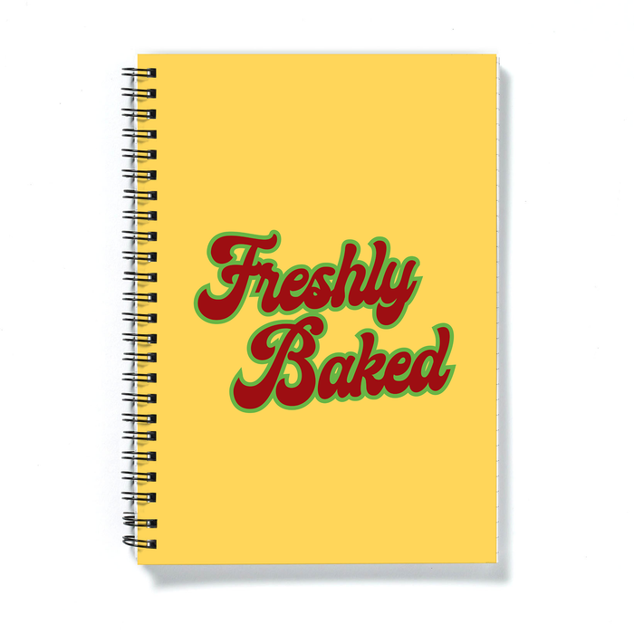 Freshly Baked A5 Notebook | Weed Journal, Gift For Stoner, Weed Smoker, Baker, Cannabis, Marijuana, Hash, Pot, Ganja