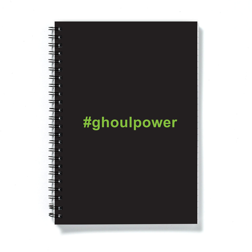 #ghoulpower A5 Notebook | Funny Halloween Ghoul Power Journal, Girl Power Pun, Ghosts, Ghoulies
