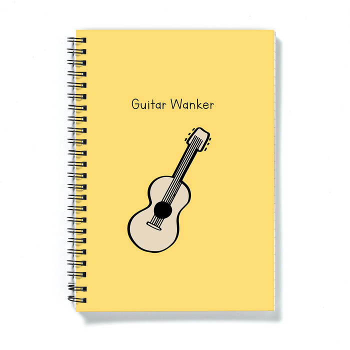 Guitar Wanker A5 Notebook | Rude, Funny Gift For Guitarist, Guitar Player, Musician, Music Lover, Journal, Diary