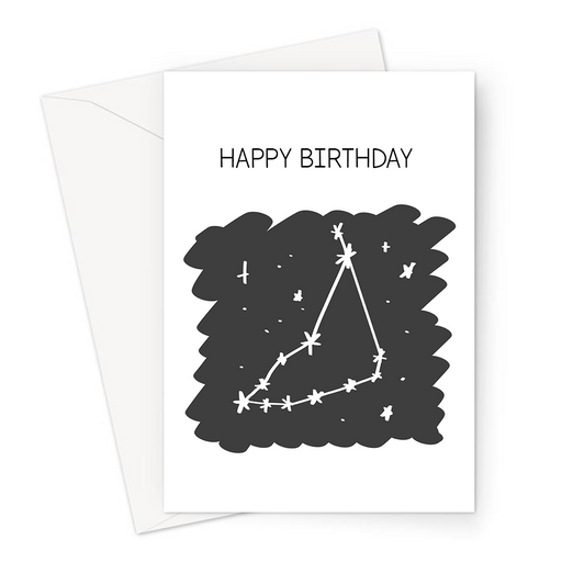 Happy Birthday Capricorn Greeting Card | Astrology Birthday Card For Capricorn, Constellation, Star Sign, Astro, Sun Sign, Astrological Sign, Horoscope