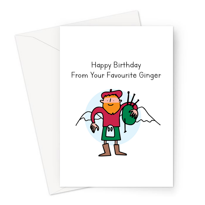 Happy Birthday From Your Favourite Ginger Greeting Card | Funny, Silly Birthday Card For Him, Red Head, Red Haired Boy, Man