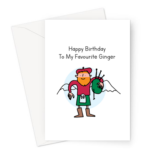 Happy Birthday To My Favourite Ginger Greeting Card | Funny, Silly Birthday Card For Him, Red Head, Red Haired Boy, Man