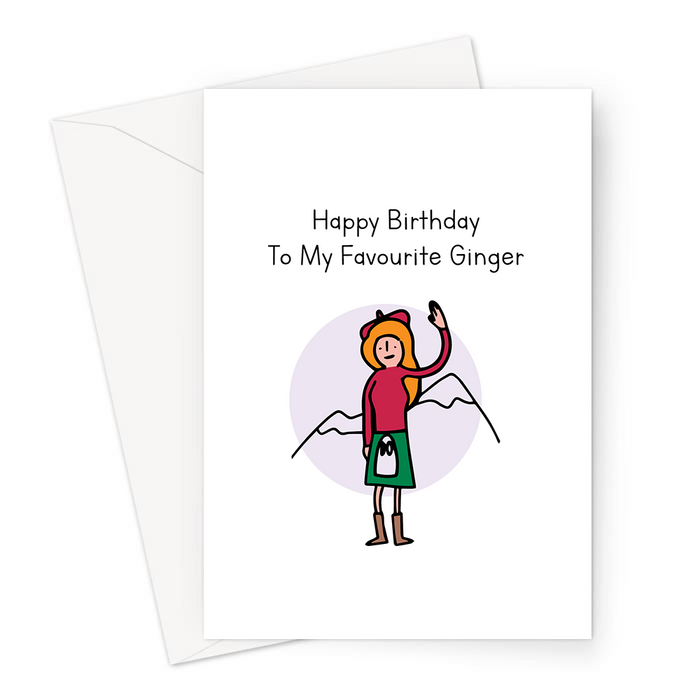 Happy Birthday To My Favourite Ginger Greeting Card | Funny, Silly Birthday Card For Her, Red Head, Red Haired Girl, Woman