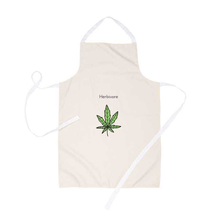 Herbivore Apron | Weed Apron, Stoner Apron, Funny Gift For Vegan Stoners, Funny Gift For Weed Smokers