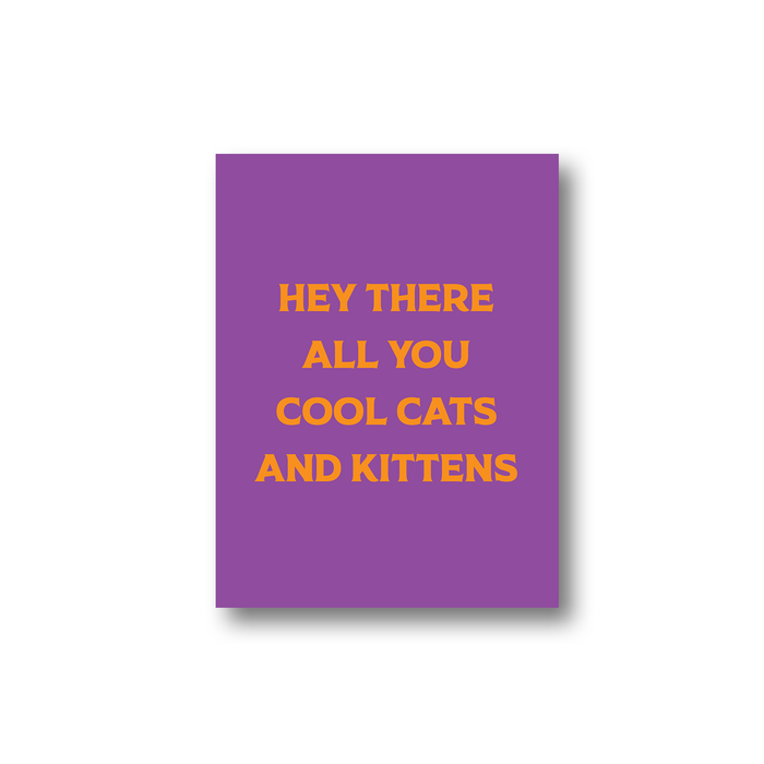 Hey There All You Cool Cats And Kittens Sticker | Carole Baskin Laptop Sticker, Tiger King Sticker, Tiger King Gifts