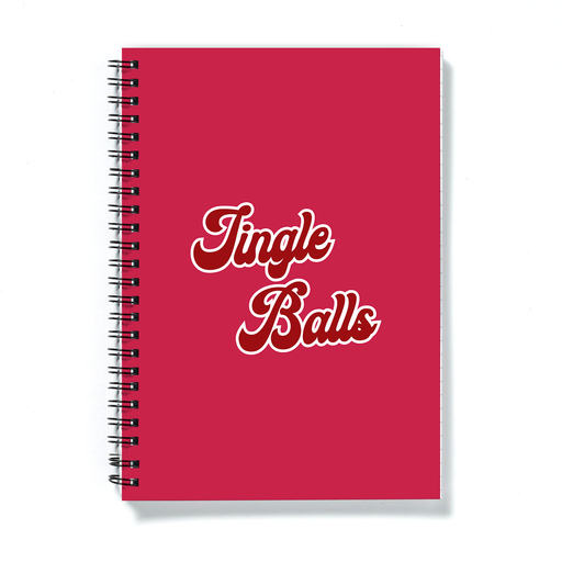 Jingle Balls A5 Notebook | Funny Christmas Notebook, Rude Stocking Filler, Christmas Carol Pun, Jingle Bells