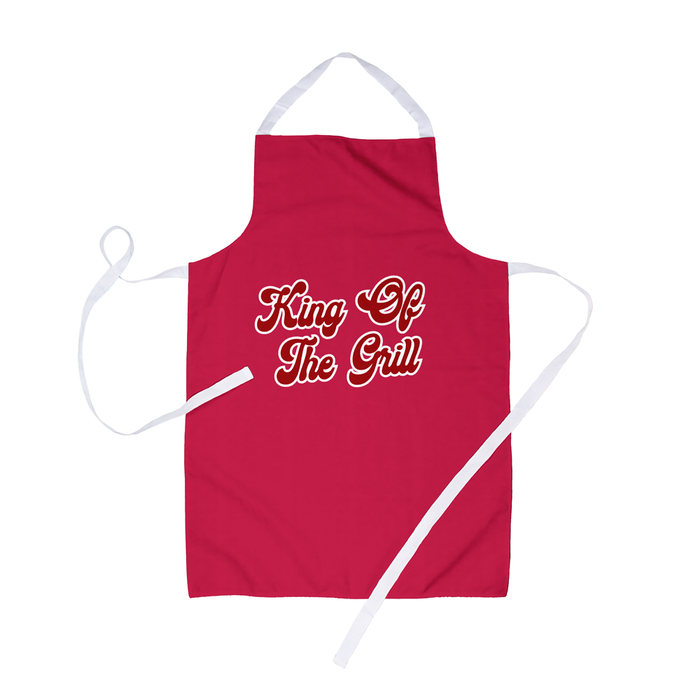 King Of The Grill Apron | Funny BBQ Apron For Him, Funny Barbecue Apron For Dad