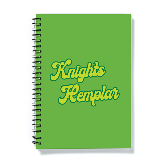 Knights Hemplar A5 Notebook | Weed Journal, Funny Gift For Weed Smoker, Stoner, Knights Templar Pun, Cannabis, Marijuana, Hash, Ganja, Pot