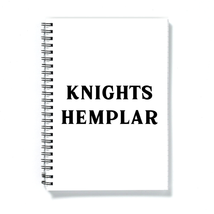 Knights Hemplar A5 Notebook | Weed Journal For Stoner, Weed Smoker, Cannabis, Marijuana, Hash, Ganja, Pot, Knights Templar Pun