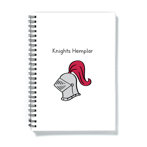 Knights Hemplar Doodle A5 Notebook | Weed Journal, Diary, Knights Templar Pun Gift For Stoner, Weed Smoker, Cannabis, Marijuana, Hash, Ganja, Pot