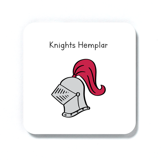 Knights Hemplar Doodle Coaster | Weed Drinks Coaster, Knights Templar Pun Gift For Stoner, Weed Smoker, Cannabis, Marijuana, Hash, Ganja, Pot