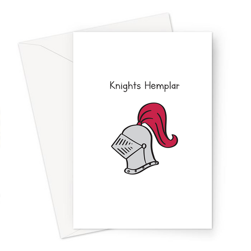 Knights Hemplar Greeting Card | Weed Birthday Card, Knights Templar Greeting Card For Stoner, Greeting Card For Weed Smoker