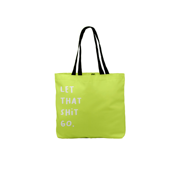 Let That Shit Go. Tote | Canvas Shopping Bag, Yoga Joke Tote Bag, For Yoga, Yogi, Namaste, Profanity, Let It Go, Breakup, Zen, Forgiveness, Healing