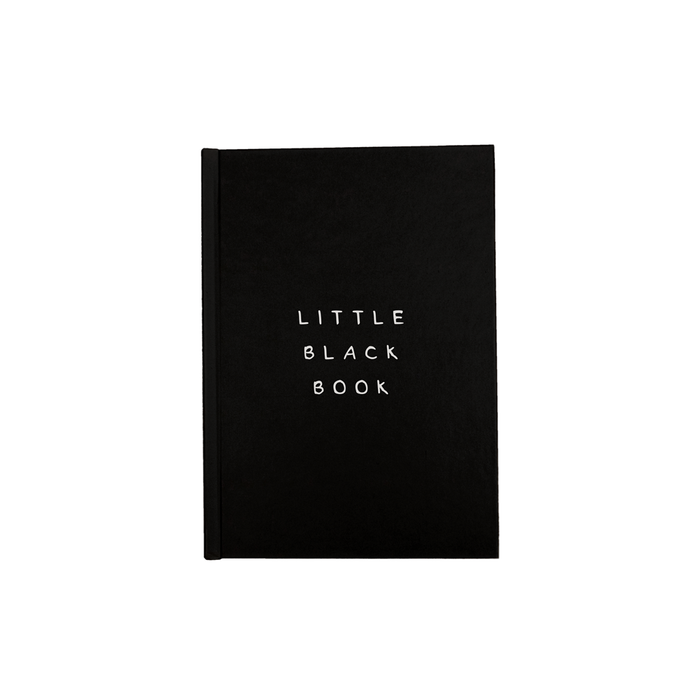 Little Black Book A5 Journal | Funny Writing Journal, Secret Dating Diary, Notebook, Monochrome