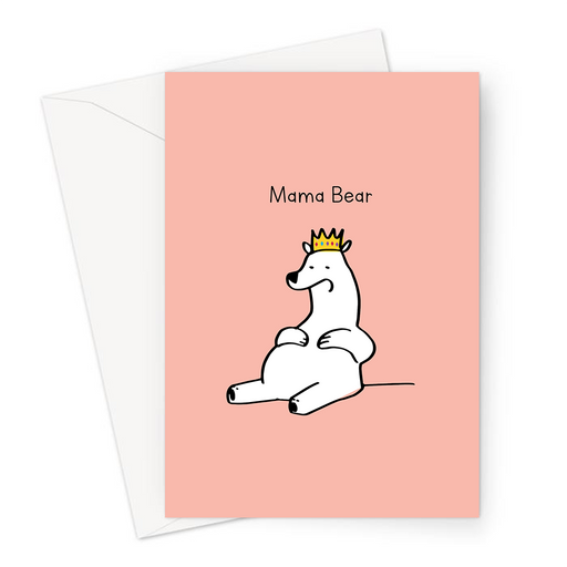 Mama Bear Greeting Card | Funny Card For Mum, Birthday Card For Mum, Funny Card For Mother, Mother's Day Card