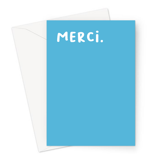 Merci. Greeting Card | French Thank You Card, Thanks, Gratitude, Grateful