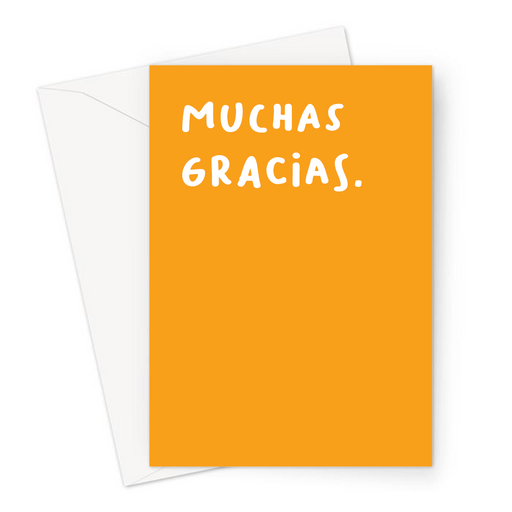 Muchas Gracias. Greeting Card | Spanish Thank You Card, Thanks, Gratitude, Grateful