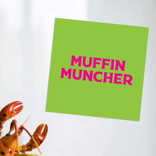 Muffin Muncher Magnet | LGBTQ+ Gifts, LGBT Gifts, Gifts For Lesbians, Fridge Magnet, Pop Art