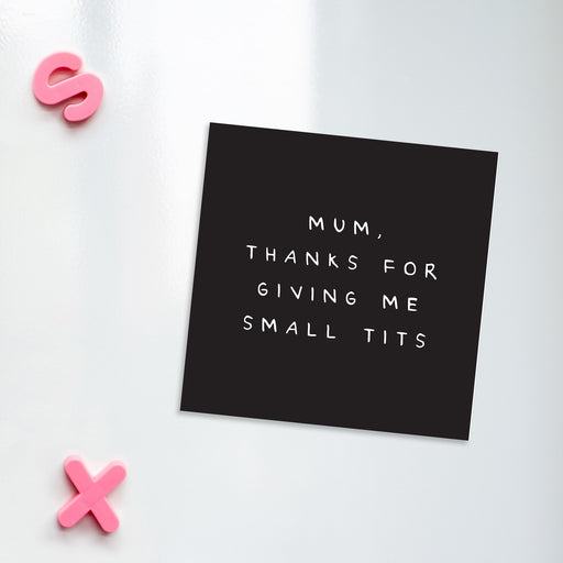 Mum Thanks For Giving Me Small Tits Magnet | Funny Gifts For Mum