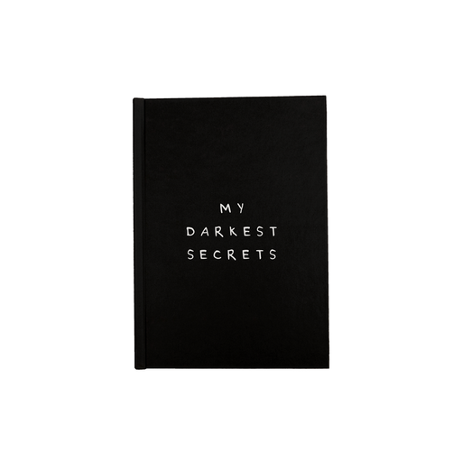 My Darkest Secrets A5 Journal | Funny Writing Journal, Secret Diary, Notebook, Monochrome