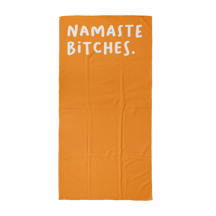 Namaste Bitches. Beach Towel | Yoga Beach Towel, Gift For Yogi, Yoga Friend, Namaste, Zen, Profanity