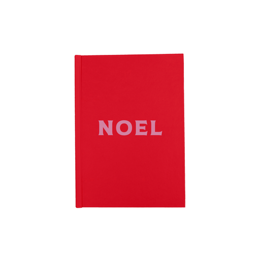 Noel A5 Journal | Hardback Christmas Writing Journal, Pop Art, Pink And Red, French Christmas
