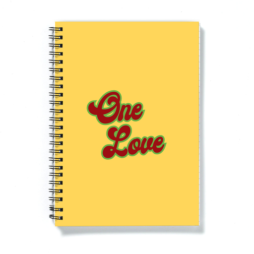 One Love A5 Notebook |Weed Journal, Funny Gift For Weed Smoker, Stoner Couple, Hippie, Cannabis, Marijuana, Hash, Ganja, Pot