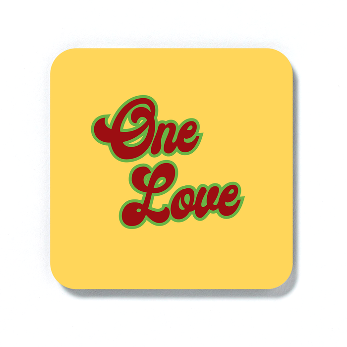 One Love Coaster | Weed Drinks Coaster, Gift For Stoner, Gift For Weed Smokers, Gift For Stoner Couple