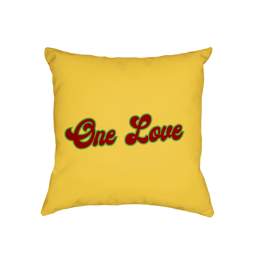 One Love Cushion | Anniversary Gift, Valentines Gift, Love Cushion For Bed, Stoner, Hippie, Hippy