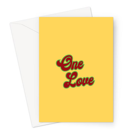 One Love Greeting Card | Anniversary Card, Love Card, Valentines Card For Stoner, Weed Smoker, Hippie, Cannabis, Marijuana, Hash, Ganja, Pot