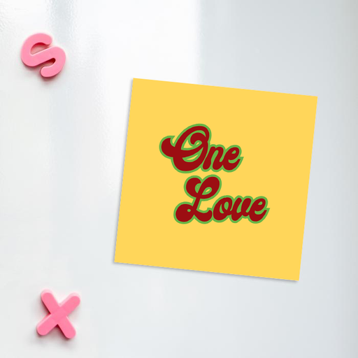 One Love Fridge Magnet | Weed Magnet, Gift For Stoner Couple, Weed Smoker, Hippie, Cannabis, Marijuana, Hash, Dope, Pot