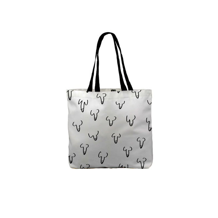 Penis Print Tote | Hen Party, Hen Do Willy Print Canvas Tote, Rude Beach Bag, Travel, Penis Doodle