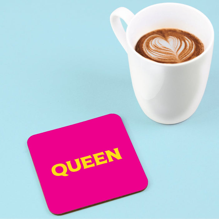 Queen Coaster | LGBTQ+ Gifts, LGBT Gifts, Gifts For Gay Men, Drinks Mat, Pop Art