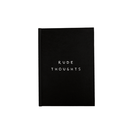 Rude Thoughts A5 Journal | Funny Writing Journal, Diary, Notebook, Monochrome