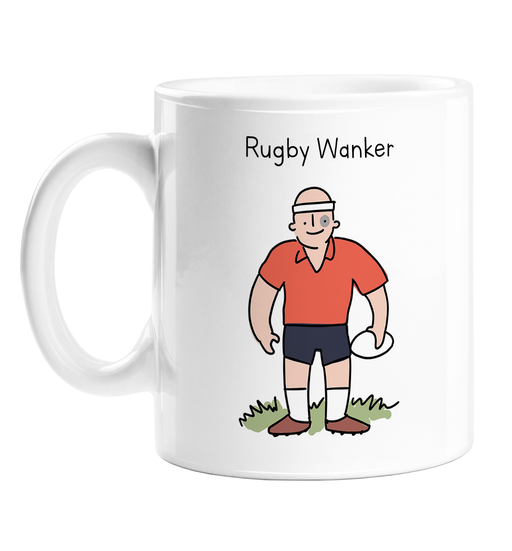 Rugby Wanker Mug | Rude Gift For Rugby Player, Funny Rugby Coffee Mug, Six Nations, Rugby League, Burly Rugby Player