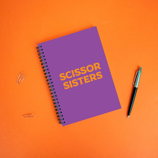 Scissor Sisters A5 Notebook | LGBTQ+ Gifts, LGBT Gifts, Gifts For Lesbians, Journal, Pop Art