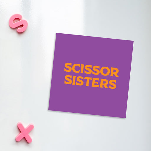Scissor Sisters Magnet | LGBTQ+ Gifts, LGBT Gifts, Gifts For Lesbians, Fridge Magnet, Pop Art
