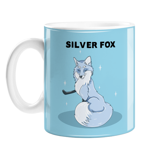 Silver Fox Mug | Funny Coffee Mug For Good Looking Older Man, Handsome Silver Fox, Distinguished Gentleman, Older Man