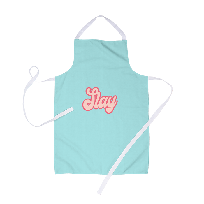 Slay Apron | Funny Apron For Her, LGBTQ+, Slay All Day, Slay Queen, Retro Seventies Bubble Font